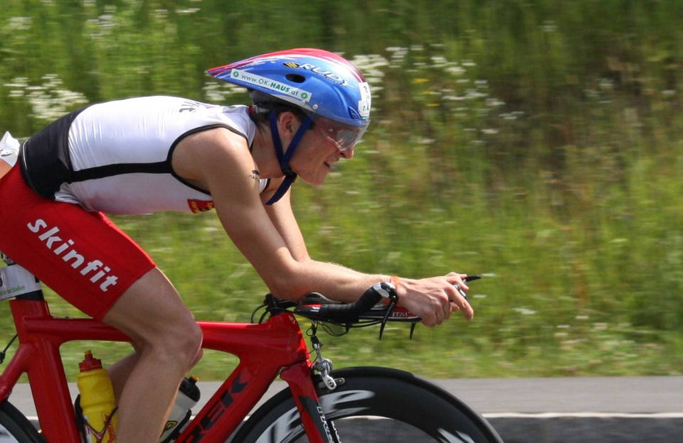 Ernst Moser beim IRONMAN Wisconsin am Start 1