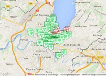 Kostenlose WiFi Knoten in Genf 2