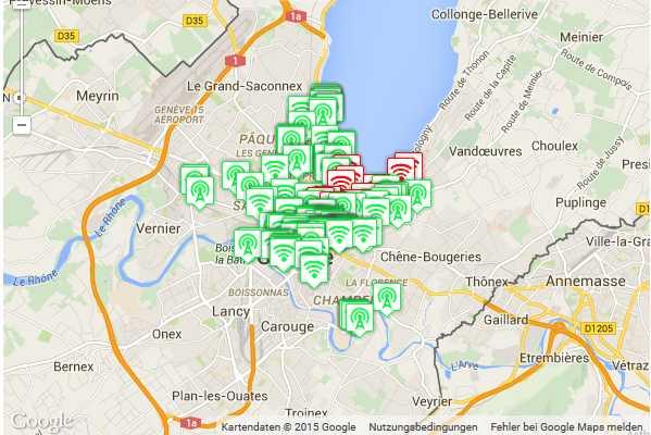 Kostenlose WiFi Knoten in Genf 1