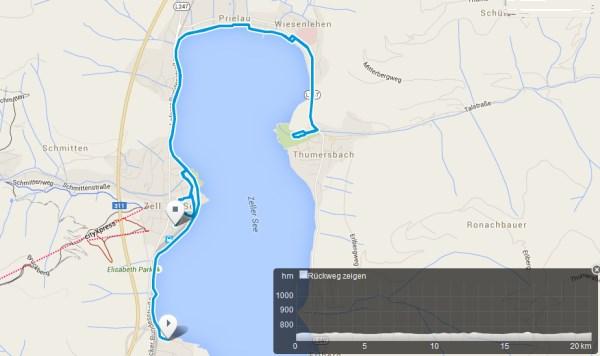 Die Laufstrecke des IRONMAN 70.3 Zell am See - Kaprun 1
