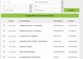Triathlon Termine für deinen Kalender 1
