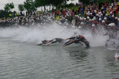 Schwimmwettkampf für Triathleten 1