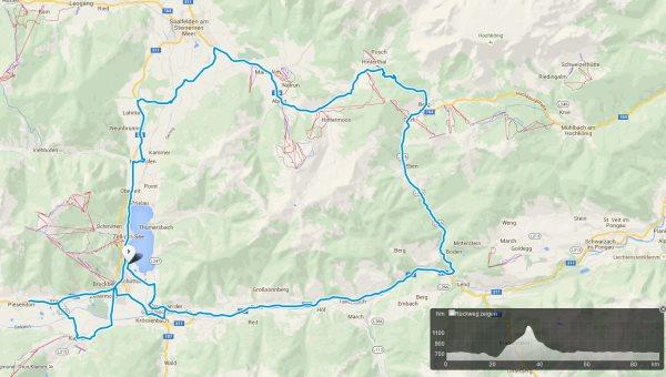 Die Radstrecke des IRONMAN 70.3 Zell am See - Kaprun 1
