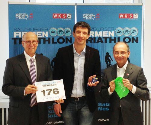 Salzburger Betriebssport stürmt Firmentriathlon 1