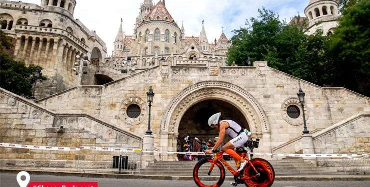Teste die möglichen IRONMAN 70.3 World Championship Strecken in Budapest 1