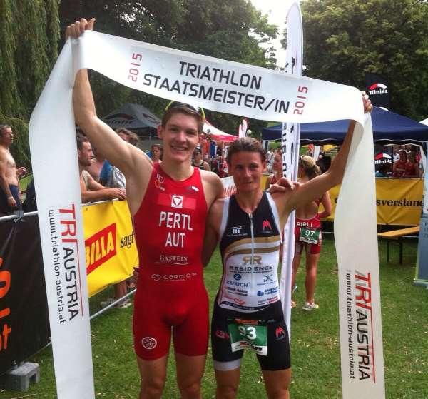 Fürnkranz und Pertl neue Triathlon Staatsmeister 1