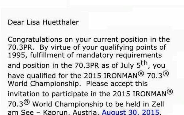PRO Einladungen für IRONMAN 70.3 Weltmeisterschaften Zell am See versandt 1