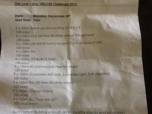 100 x 100 m im Schwimmbad 1