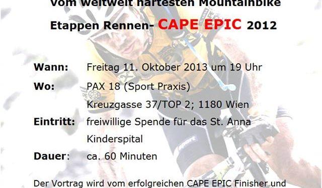 """""""Cape Epic"""" Vortrag in Wien 1"""