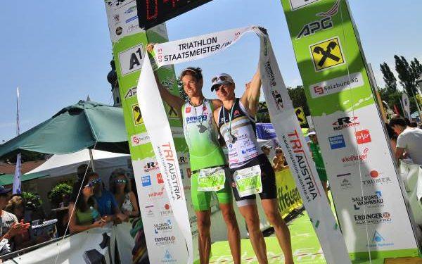 Fürnkranz und Steger Sieger beim Trumer Triathlon und sichern sich die Staatsmeistertitel 1