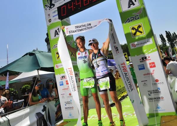 Fürnkranz und Steger Sieger beim Trumer Triathlon und sichern sich die Staatsmeistertitel 3