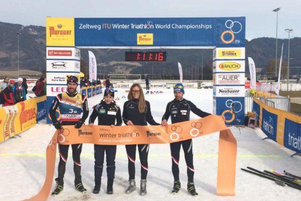 Wintertriathlon Silbermedaille für Österreichs Elite Team 5