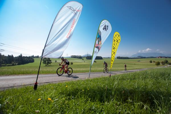 Drei Meisterschaftsbewerbe im Rahmen des Trumer Triathlons 1