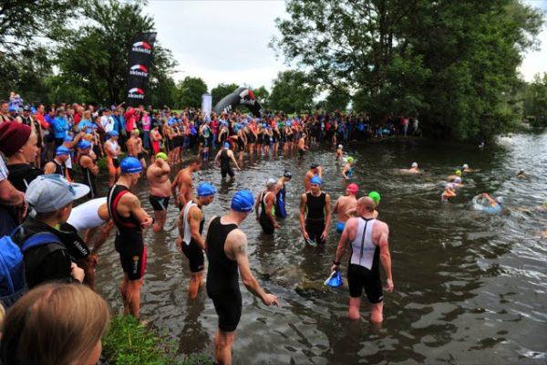 Start zum Jannersee Triathlon