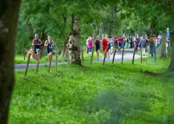 Traumhafte Laufstrecke beim Jannersee Triathlon