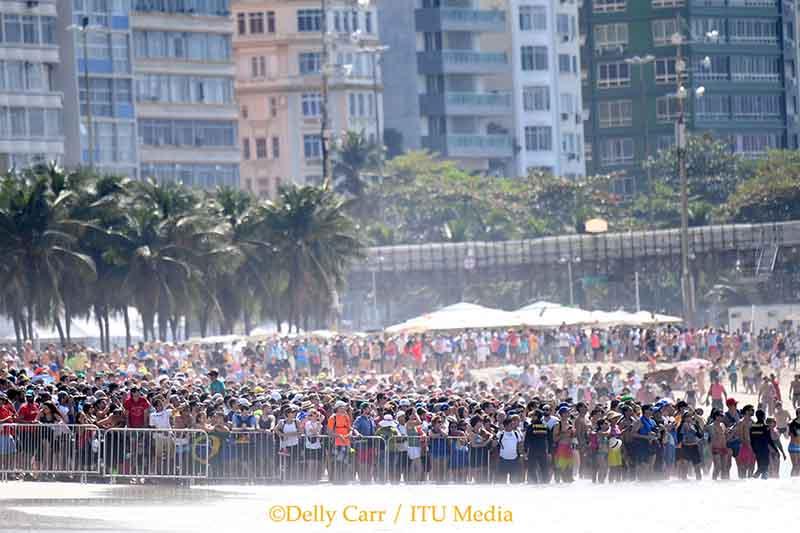 Also der Triathlon war definitiv ein Publikumsmagnet in Rio de Janeiro