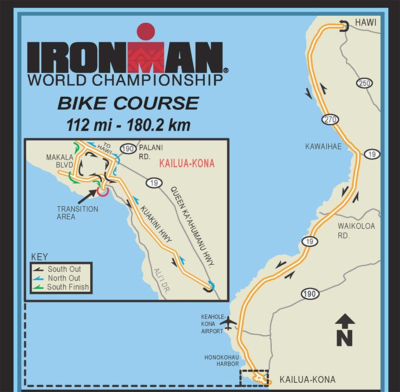 IRONMAN Hawaii Radstrecke