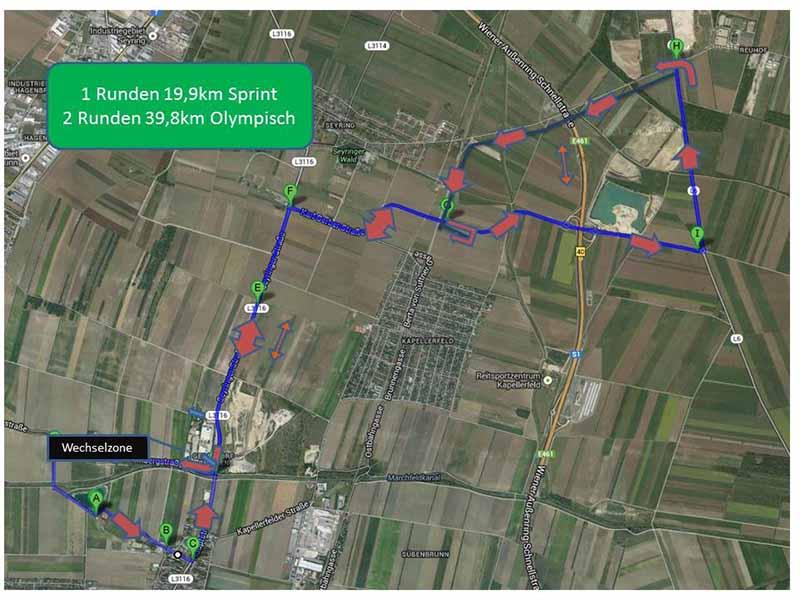 Marchfeld Triathlon Radstrecke
