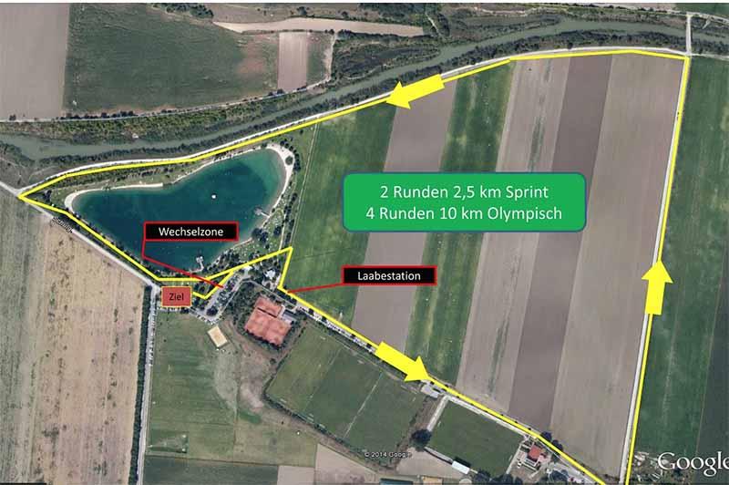 Marchfeld Triathlon Laufstrecke