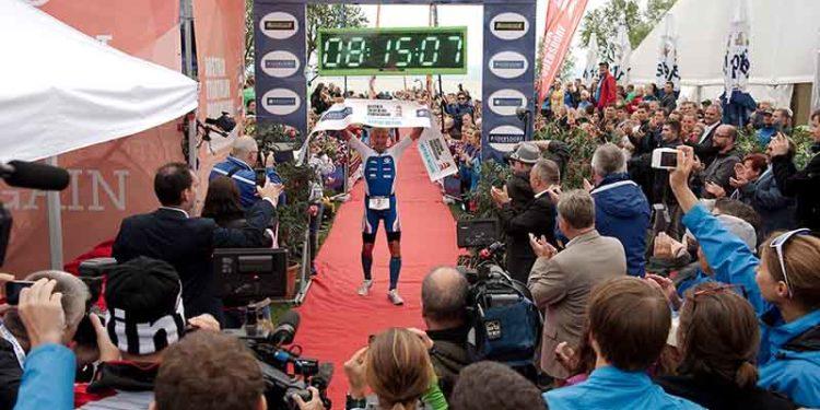 Sieger des Austria Triathlons in Podersdorf über die Langdistanz Petr Vabrousek