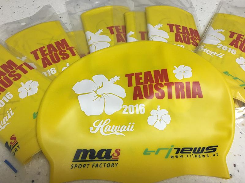 IRONMAN Hawaii Badekappen für alle Österreicher 1