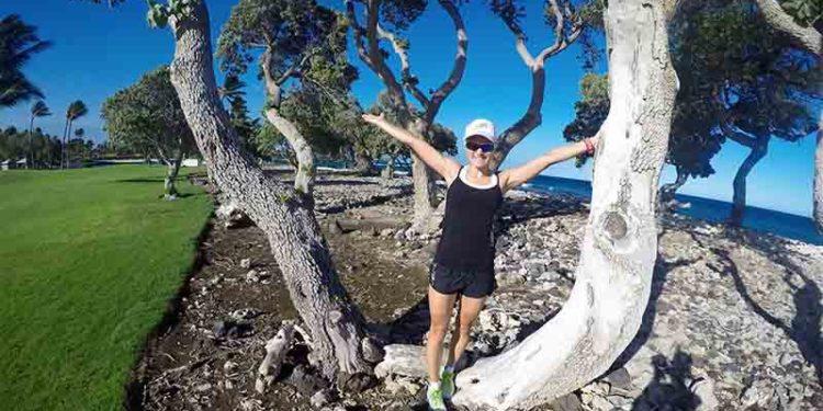 Michi Herlbauer genießt die Zeit auf Hawaii