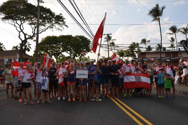 Parade der Nationen beim IRONMAN Hawaii 7