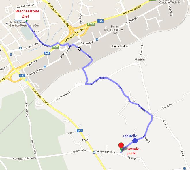 Braunau Triathlon Laufstrecke