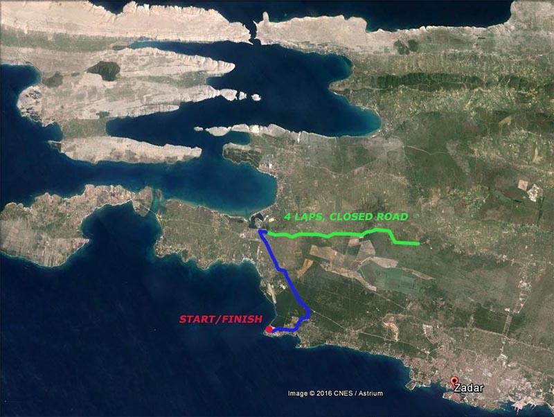 Punta Skala Radstrecke