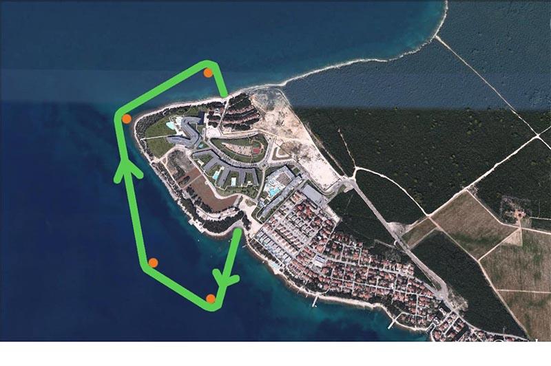 Punta Skala Schwimmstrecke