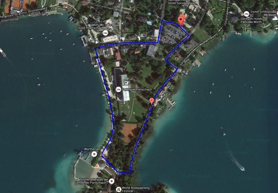 Laufstrecke Wörthersee Triathlon