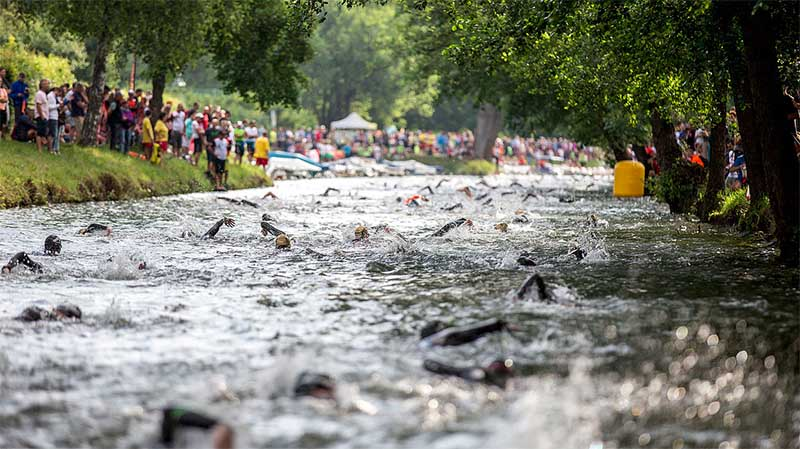 "IRONMAN Austria mit ""No Walk Area"" bei Labestellen 1"