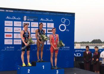 Rang drei für Sara Vilic beim World Triathlon Serie Bewerb in Abu Dhabi