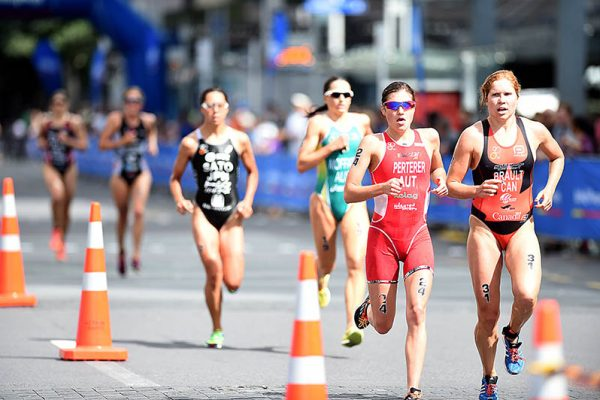Trio bei World Triathlon Serie Grand Final am Start 7
