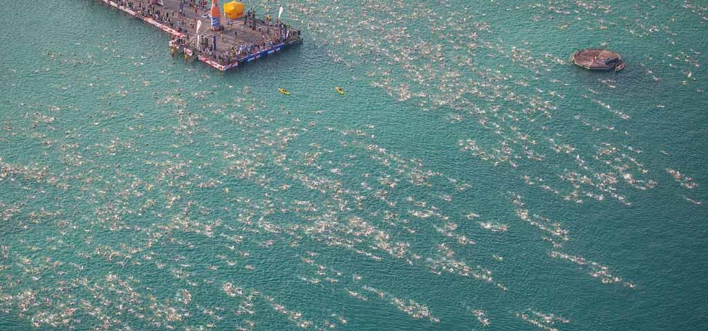 Spektakulärer Schwimmstart beim IRONMAN Austria-Kärnten