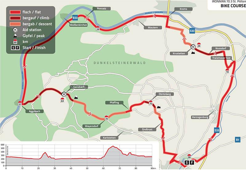 Nur mehr 100 Startplätze beim IRONMAN 70.3 St. Pölten - Neuer Streckenabschnitt am Rad 2