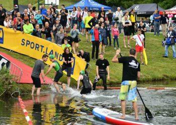 Schwimmausstieg beim Tulln Triathlon | (c) fairplayfoto.net