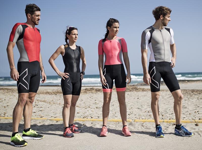 Kompression, kühlendes Material und aufgesetzte Ärmel für schnelle Triathlon Zeiten 1
