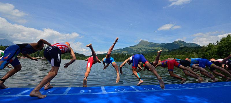Elite Damen Starterfeld bei Triathlon-EM in Kitzbühel 5