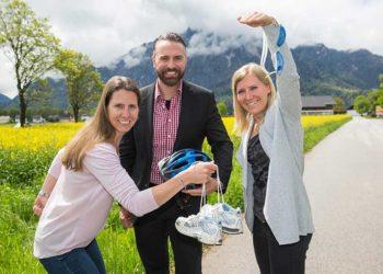 WKS Team Gründerservice auf Ski Foto: Neumayr/Leo 05.05.2017 Brigitte Obermoser, Hans-Joachim Pichler, Andrea Fischbacher,