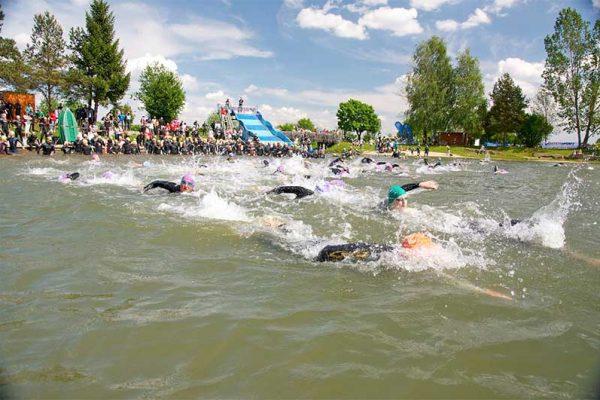 Triathlon Zell, Trimotion, Großsteinbach Triathlon in der Schwebe 1