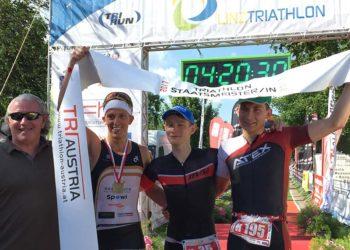 Stefan Hehenwarter kürt sich zum Staatsmeister über die Double Olympic Distance beim Linz Triathlon 2017