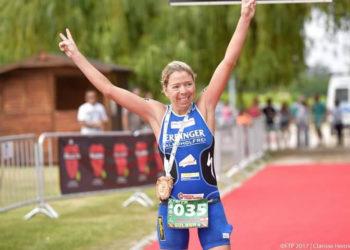 Carina Wasle läuft bei XTERRA Portugal auf Rang Zwei.