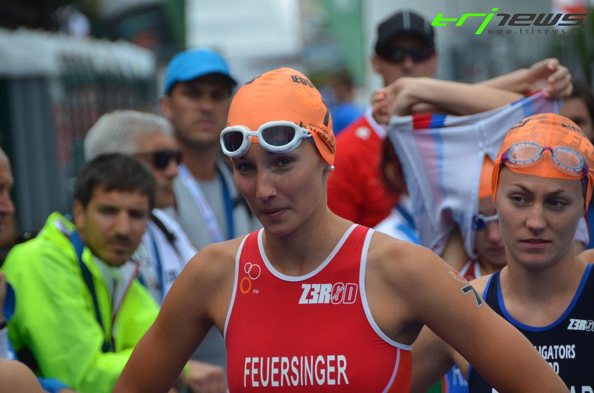 Therese Feuersinger vor dem Start