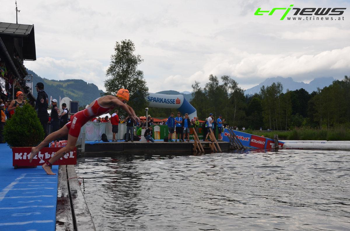 Sara Vilic auf dem Weg in die zweite Schwimmrunde