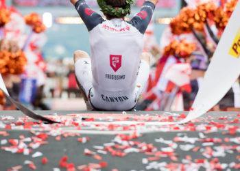Jan Frodeno beim IRONMAN Austria-Kärnten 2017 | Foto: Getty Images for Ironman )