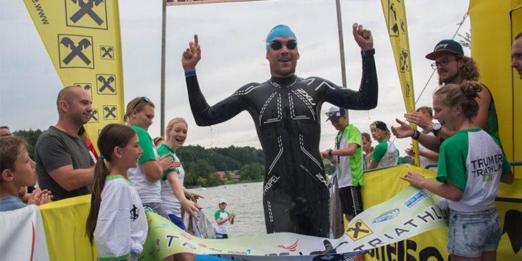Sieg für Horst Reichel beim Seecrossing   Photo: Trumer Triathlon