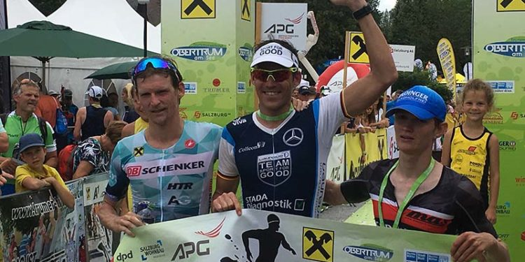 Sieger Horst Reichel mit Andreas Giglmayr und Stefan Hehenwarter   Photo: trinews.at