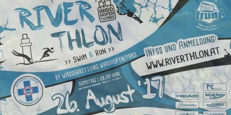 Ankündigung des 1. Riverthlons in Waidhofen an der Ybbs