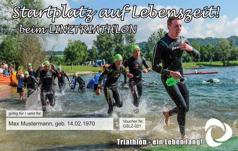Lebenslanger Startplatz bei Linz Triathlon 1